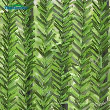 Clôture de feuille verte artificielle pvc extérieur enduit UV