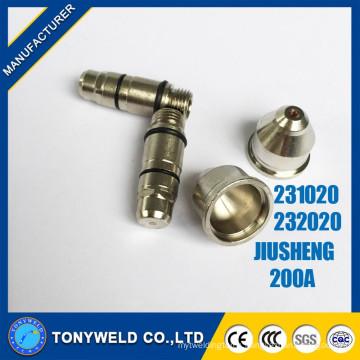 Jiusheng 200A air plasma cutting tips /nozzle