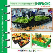 Maßgeschneiderte kostenlose organisierte Metall-Supermarkt Gemüse-Rack-Set