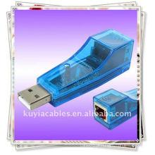 Brand New Premium USB 2.0 para Ethernet LAN RJ45 Card adaptador de rede 10/100 convertor