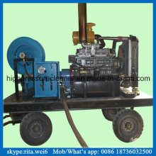 High Pressure Diesel Drain Pipe Washer Sewer Pipe Cleaning Machine