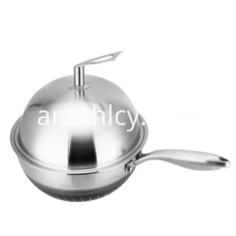 stainless steel pan in oven