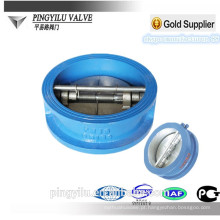 Ductile ferro wafer borboleta válvula de retenção hidráulica mola carregado borboleta set válvula de retenção preço para o dreno fabricante