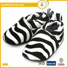 2015 best sell zebra print fashion coton chaussures de bébé