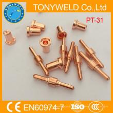 Boquilla de corte por plasma PT31 y electrodo