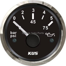 "2"" 52mm Waterproof Oil Pressure Gauge 0-5 Bar with Backlight for Car Marine"