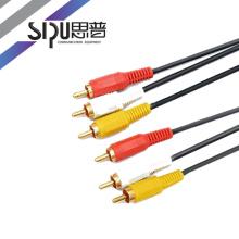 SIPU pas cher 1,8 m haut de gamme 3 RCA à 3 RCA AV audio vidéo numérique câble