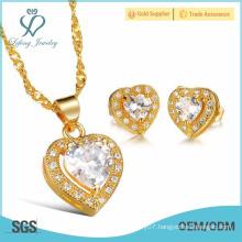 2015 Christmas gift elegant gold plating stud earring set for women