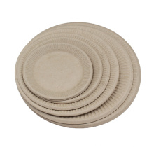 China Factory Food Grade Snack Fast Food Container Biodegradable Sets Dinnerware Sugarcane Bagasse Plate