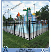 Factory price plastic spray black metal fencing with high quality