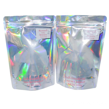 Holographic Mylar Zip lock Bag Standup