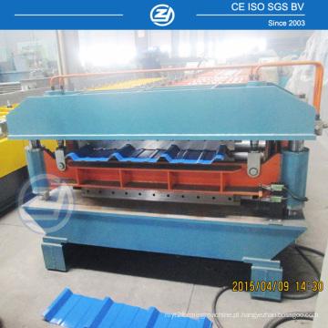 Máquina para fabricar coberturas de dupla camada