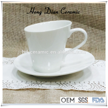 modern ceramic tea cup and saucer,white porcelain coffee cup with saucer wholesale,ceramic cup and saucer
