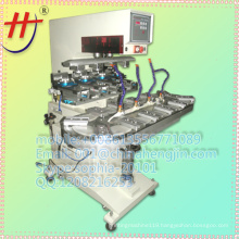 ink cup 4 color feeder pad printing machine with conveyor