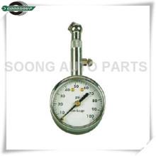 Dial Metal Tire Gauge, mostrador de medidor de pressão dos pneus com válvula de liberação de ar