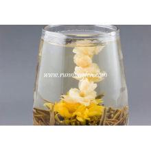 Artistic Blooming Tea Chá da flor do jasmim