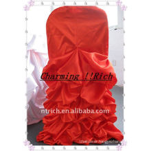 Satin Ruffled Chair Cover for Christmas