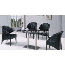 Modern leather chair and restaurant table XYN1312