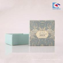 Boîte de papier d'emballage de savons de carton rigide imprimé par coutume avec la fenêtre de PVC pour des savons de barre