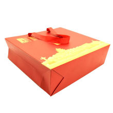 High quality Large size brown paper carry bag craft kraft paper bag with logo printed