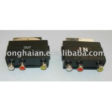 scart adapter,audio video connector