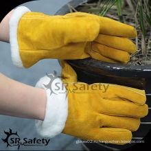 SRSAFETY Боа подкладка зимней мебели кожаные перчатки