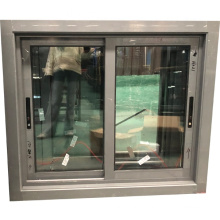 Grey color aluminium profile china supplier wholesale sliding window design
