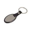 Cheap Promoção Oval Shape plástico Keychain com logotipo do cliente (F1013)