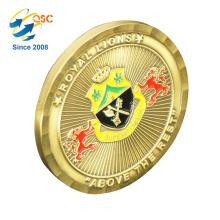 L'usine en gros coutume gravure les pièces rondes faites sur commande d'or de pièces de monnaie 3D personnalisées