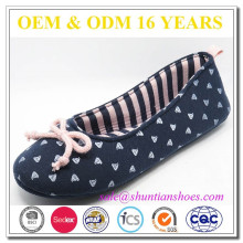 New fashion lady indoor slipper,ballerina shoes foldable