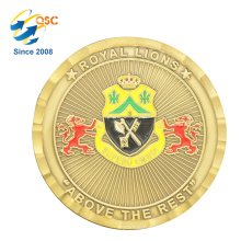 Custom Promotion Gift 3D Single Customized Pretty Brass Coin