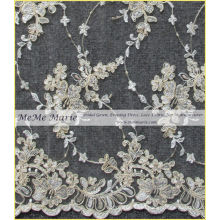 Vintage Embroidery Gold Lace Fabric 52'' No.CA395C4