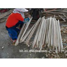 Bâtons fins en bois ronds pour balai à vadrouille