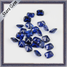 Forma retângulo bonito octógono azul sintético spinel gem