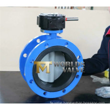 Gear Box Double Flanged Butterfly Valve