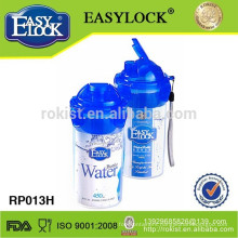 BPA free plastic water bottle with filter 450ml