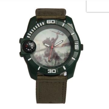 Reloj de pulsera unisex de la marca propia de moda logotipo con correa de nylon
