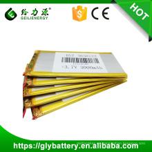 Batería lipo recargable de la batería del polímero de 3.7v 3000mah li