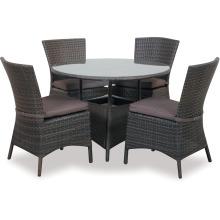 Extérieurs de meubles de jardin osier rotin Set Patio Dining Set