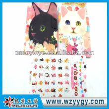 Новый дизайн тонкие пластиковые наклейки с крышкой, моды настоящий для детей