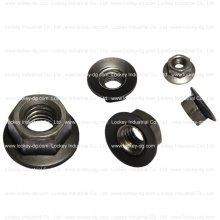 Carbon Steel Flange Hex Nut Zinc Plated