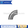 Sanitary welding Short 90 degree elbow with straight ends