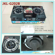 tempered glass top 2 burner gas cooker stove