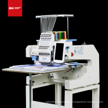 Single head 12 needle high speed multifunctional computerized embroidery machine for hat/shirt/flat embroidery