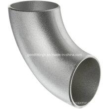 Ss aço inoxidável 90 graus Lr Cotovelo Bw Pipe Fittings com PED