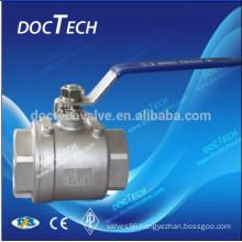 1/2 inch stainless steel ball valve NPT/BSPT/BSP Thread Type
