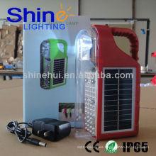 Cargador de teléfono super brillante blanco llevó camping linternas de jardín solar