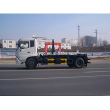 Dongfeng 4X2 camión de basura de la elevación del gancho con la caja desprendible para la venta