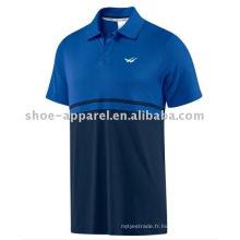 T-shirt de polo de couleur mélangée pour les hommes