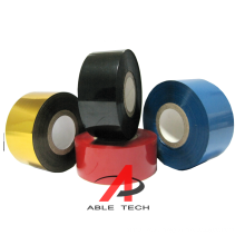 White  and Gold color 30*100m Hot stamping/coding Ribbon to Print Expiry date on HP241, HP241B and DY8 coding machine
